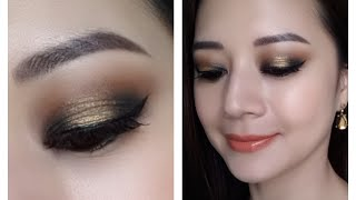 Dark Gold smokey eye using Kat Von D's Monarch palette