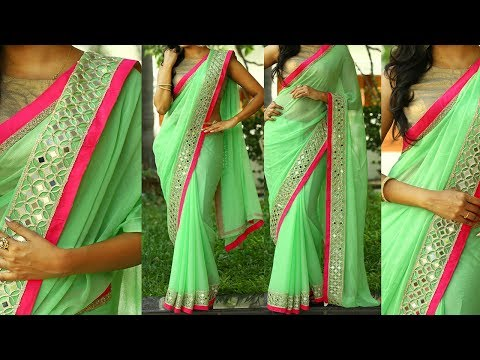 Xxx Mp4 5 Gorgeous Ways To Wear Designer Saree With Thin Perfect Pleats For Party Like A Bollywood Celebrity 3gp Sex