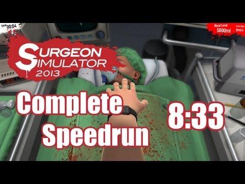 Surgeon Simulator 2013 | 8:33 Complete Speedrun w/ Commentary