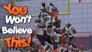 CAN I CATCH A TOUCHDOWN BY THROWNG THE FOOTBALL OFF OF THE FIELD GOAL POST?? Madden 17 Challege!!