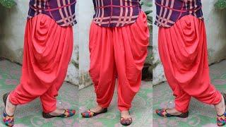 Dhoti Salwar cutting and stitching   धोती सलवार कटाई एंड स्टिचिंग का आसान तरीका