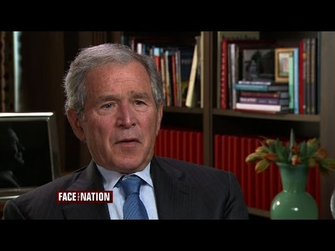 watch George W. Bush discusses his father, Jeb in 2016, and the Iraq War