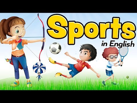 Sports in English Vocabulary for beginners and children