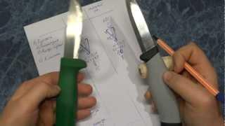 Mora Robust vs Hultafors Grovkniv. Тест ножей Часть 2 (Окончание)