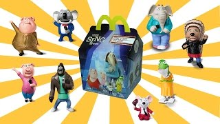 8 SING Movie Happy Meal McDonalds Toys | European SING Kids Meal Figures Lucas World Review PART 1