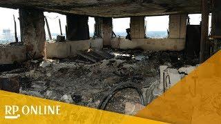 London: Aufnahmen aus dem ausgebrannten Grenfell Tower