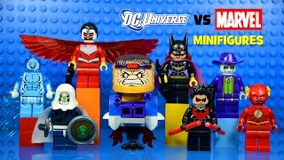 LEGO DC vs Marvel Superheroes KnockOff Minifigures Set 7 w/ Falcon Electro Joker Flash & Batgirl