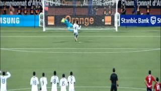 المنتخب المصري يفوز ببطولة افريقيا للشباب 2013 ، ضربات الترجيح مع فرحة الفوز