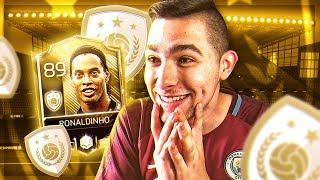 RONALDINHO ICONO FIFA 18 MOBILE EN MIS MANOS