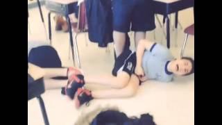 School boy grabs crotch accidentally