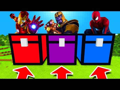Xxx Mp4 Minecraft PE DO NOT CHOOSE THE WRONG CHEST Iron Man Thanos Amp Spiderman 3gp Sex