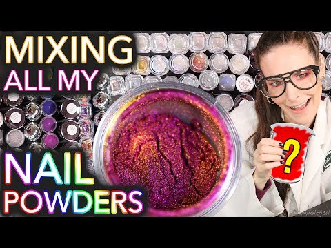 Mixing All My Nail Powders Together for sale if u keep it on the DL