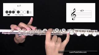 How To Play The Note F on the Flute: Learn Flute Online