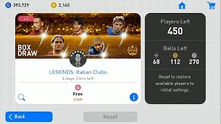Free Italian Club Legends Reward Packs Pes Mobile