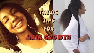 How I GREW my Natural Hair so Long (before the fast hair growth techniques) OG tricks!
