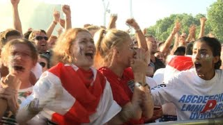 England fans overjoyed at early Trippier goal vs Croatia