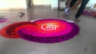 Rahul swami India's fastest rangoli artist