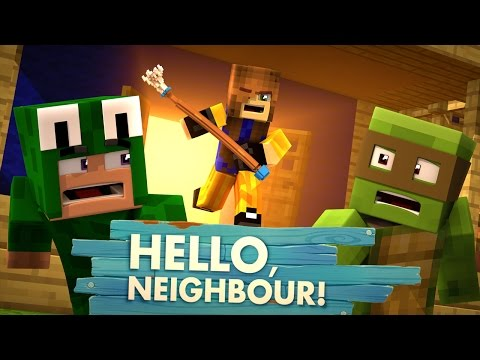 Minecraft Baby Hello Neighbour THE NEIGHBOUR IS A GIRL