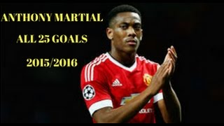 ANTHONY MARTIAL-ALL 25 GOALS -ENGLISH COMMENTARY