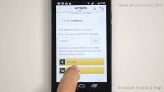 Amazon Android App - How To Add Product To Your Cart