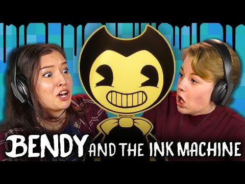 DISNEY HORROR GAME Bendy and the Ink Machine Teens React Gaming
