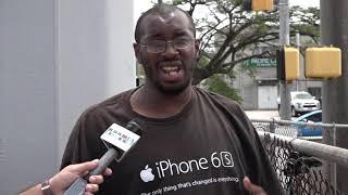 Chris Barnett talks to Henry, a homeless man living on Guam's streets