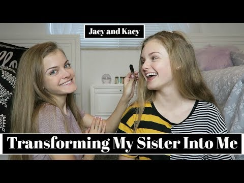Xxx Mp4 Transforming My Sister Into Me Challenge Jacy And Kacy 3gp Sex