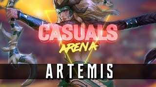 Artemis: Arena | Godess of Abstinence can't have kisses.