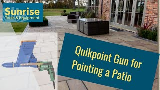 Quikpoint Paving Pointing Gun - Pointing a Patio
