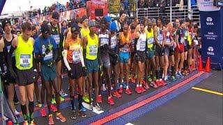 Raw: Kenyans Dominate New York City Marathon