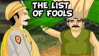 Akbar Birbal Stories In Hindi | The List Of Fools | Hindi Animated Stories | Masti Ki Paathshala