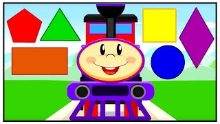 Train for Children Cartoon - Shapes - Cars & Trains New Animation