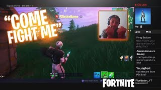 I Stream Sniped an ANGRY KID & NOW HE WANTS TO FIGHT ME IN REAL LIFE! Fortnite LIVE