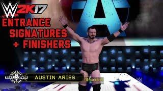 Austin Aries Future Stars DLC (Entrance, Signature & Finishers + New Move Animations/ OMG Moment!