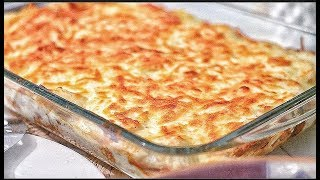 Chicken and  Potatoes Bake with Bechamel Sauce
