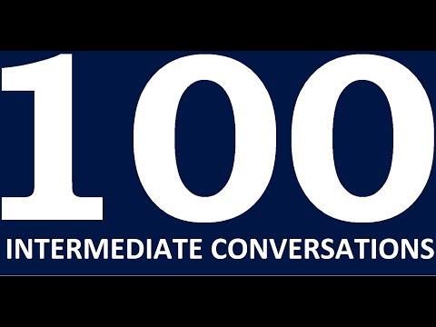 100 English Conversations Intermediate level. Learn English Speaking Practice. English conversation