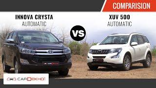 Toyota INNOVA CRYSTA Automatic vs XUV 500 Automatic   Comparison