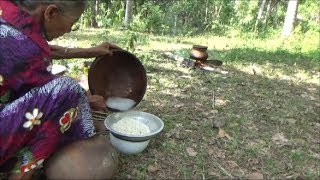 Village Food ❤ Cooking Egg Fried Rice in my Village by Grandma