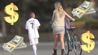 12 Year Old Cristiano Ronaldo Exposes Gold Diggers Prank!