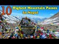 10 Highest Mountain Passes Above 5000m In Nepal || Mountain Passes In Nepal || Visit Nepal Official