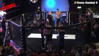 Xtreme Kombat 6 Leigh O'Donnell FlexMMA vs Ellis Lacy Wolfslair 77kg Ammy A SHAREFIGHT.COM