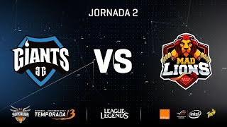 SUPERLIGA ORANGE- MAD LIONS vs GIANTS -Mapa 1-#SUPERLIGAORANGELOL2
