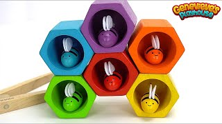 Best Preschool Learning Toys for Kids Video: Toy Bees and Beehive with Genevieve at the End!