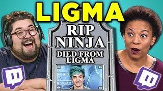 ADULTS REACT TO LIGMA (Ninja Death Hoax)