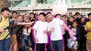 WE GOT ATTACKED BY FANS! (Crazy event!)