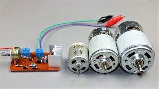How to Make DC Motor Speed Controller Circuit at Home + PCB