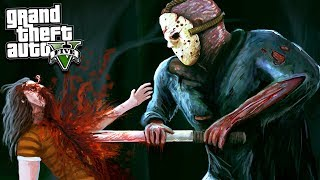 GTA 5 FRIDAY THE 13TH MOD: JASON IS HUNTING US 😱 | SCARY GTA 5 Mods