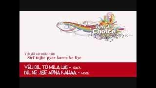 Yeh Dil To Mila Hai - Dil Ne Jise Apna Kahaa