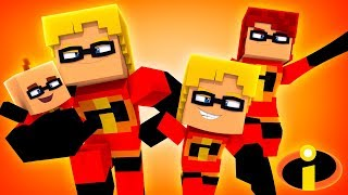 THE INCREDIBLES 2: THE MOVIE! (Little Carly Minecraft).