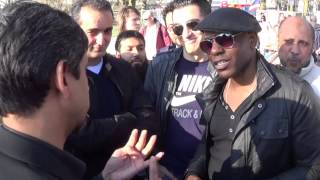 Arrogant Atheist gets schooled by a Muslim. Hyde Park